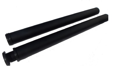 Biurko Gamingowe Standard biało/czarne z przelotką na kabel