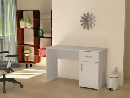 Biurko komputerowe FRANEK, białe, 120cm,