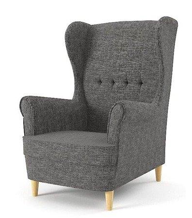 Fotel uszak Milo, styl skandynawski, kolor ciemny szary