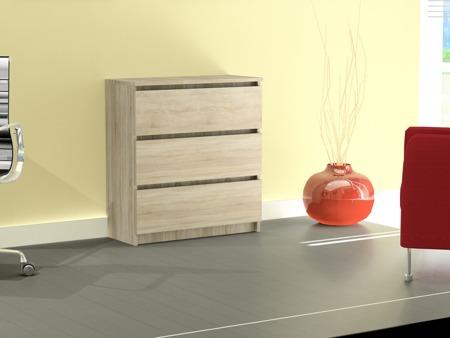 Komoda Rico 3 szuflady kolor sonoma 60cm