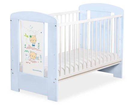 Łóżeczko 120x60cm Niebiesko-białe Sweet bears 5019-03-667