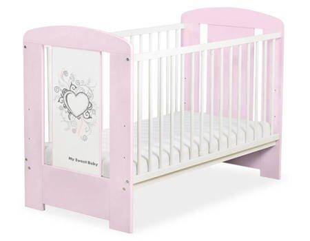 Łóżeczko Chic 120x60cm Różowo-szare 5010-08-1