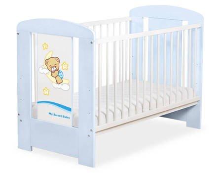 Łóżeczko Dobranoc 120x60cm Niebieskie 5009-03-807