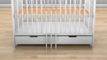 Łóżeczko Kacper z szufladą 120 x 60 kolor biały