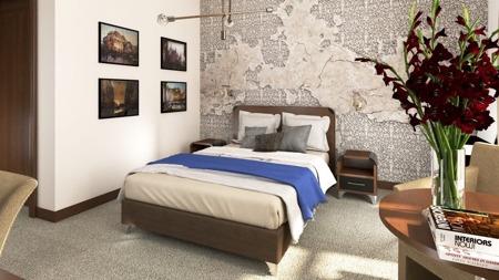 Łóżko kontynentalne 140 z materacem, 20 kolorów do wyboru