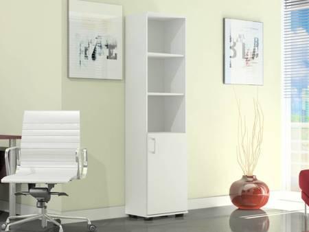 Regał biurowy G 40 II 1D Biały