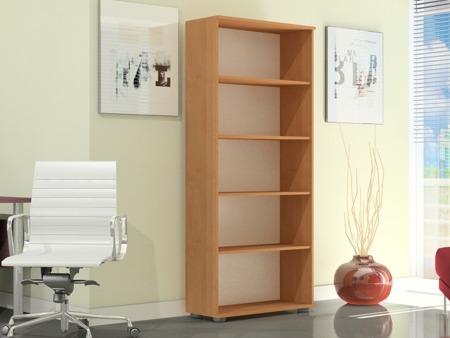 Regał biurowy wysoki 182 cm, G 80, szerokość 80cm kolor olcha