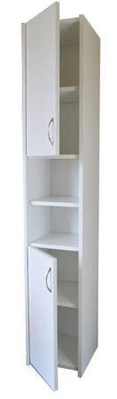 Słupek łazienkowy Adaś 2D 30 cm Biały