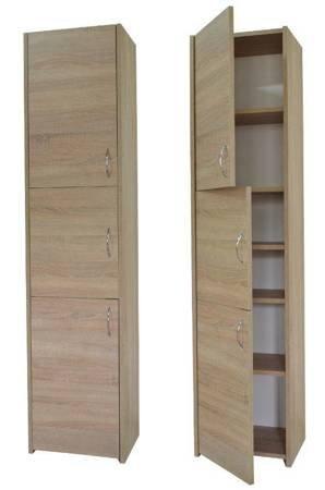 Słupek łazienkowy Adaś 3D 30 cm Sonoma