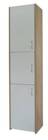 Słupek łazienkowy Adaś 3D 30 cm Sonoma z białymi drzwiami
