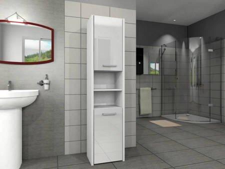 Słupek łazienkowy LUNA 40 2D Biały Połysk