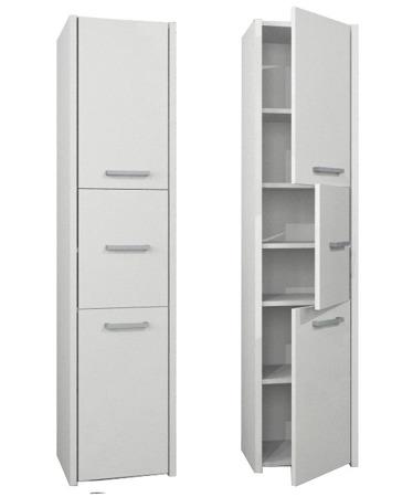 Szafka łazienkowa, słupek, kolor biały, Luna 40 cm, 3 drzwiowa