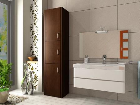 Szafka łazienkowa, słupek, kolor wenge, Adaś 40 cm, 3 drzwiowa