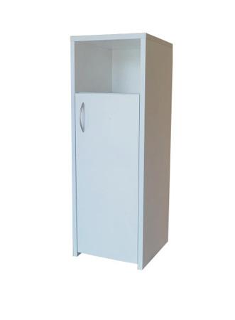 Szafka łazienkowa, słupek mały, kolor biały, Adaś 40 cm,